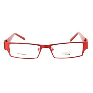 Golden Red Full Rim Rectangle Eye wear