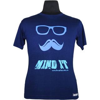 Moksa Men's Blue Round Neck T-Shirt