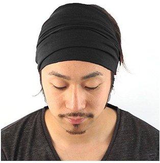 black headwrap bandana