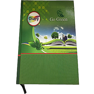 Ezzi deals 2018 diary with go green theme . save nature , go green diary 2018 , memo book 2018.