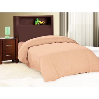 Pure Cotton Solid Color Single Bed Sheet With Out Pillow Cover