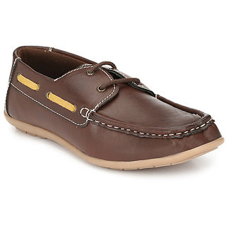 R L SHOES Brown Stylish Casual Lace up for Boys