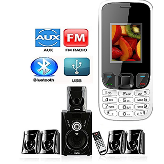 Combo of I KALL K29 5.1 Bluetooth Speaker with Basic Feature Mobile Phone(1 Year Manufacturer Warranty)