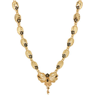 Floral Pattern Designer Goldplated Gold Plated Bollywood Necklaces Enamel on It For Women India