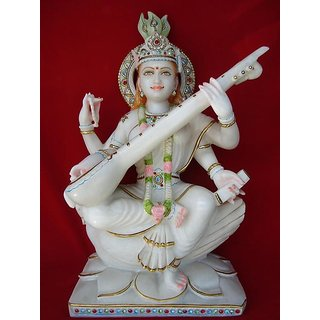 Saraswati Water Proof Statue Off White