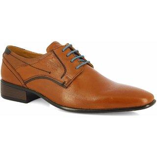 Alberto Torresi  Men's Tan+Blue Formal Shoes