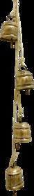 Starstell 4 Small Cow Bells Suede Leather cord Windchime Vintage Retro handmade Indian door hanger doorbell Home Decor S