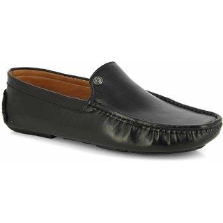 Alberto Torresi Men's Black Loafers