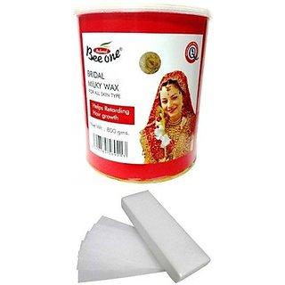 GoodsBazaar Beeone Bridal Wax with 90 Wax Strips (800 Grams)