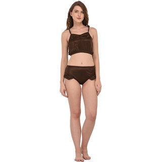You Forever Brown Lingerie Set