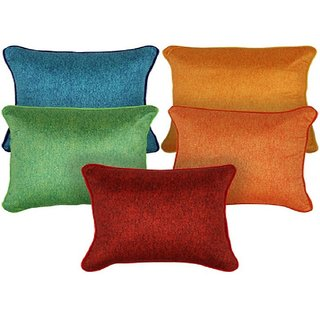 Premium Quality Solid Cushion Cover (12x12-inch) - Set of 5
