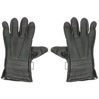 Tahiro Black Premium Qulaity Leather Gloves - Pack Of 1