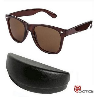8d73797d58e Buy Ediotics Classic Brown Wayfarer Style Designer Sunglasses for Men Online  - Get 70% Off