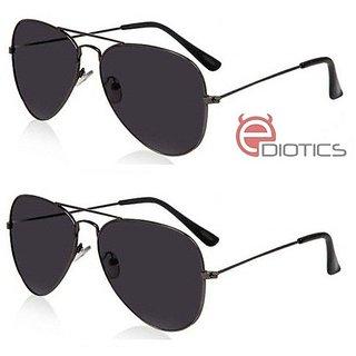 ff45946e7a6 Buy Ediotics Set of 2 Classic Black Aviator Style Designer Sunglasses for Men  Online - Get 61% Off