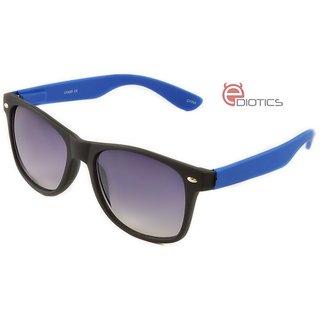 9d43f3228c3 Ediotics Classic Blue with Black Wayfarer Style Designer Sunglasses for Men