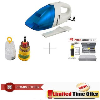 Special Combo Offer! Car Vacuum Cleaner With 41 pcs Toolkit and 31 pcs Jackly Toolkit - CRV31PC41P