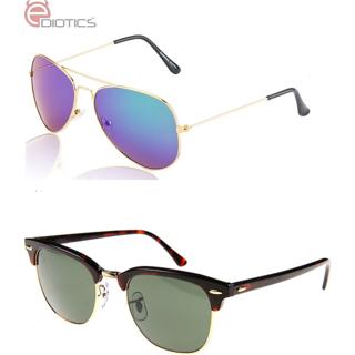 6f60aaf81e2 Buy Ediotics Classic Blue with Black Wayfarer Style Designer Sunglasses for  Men Online - Get 60% Off