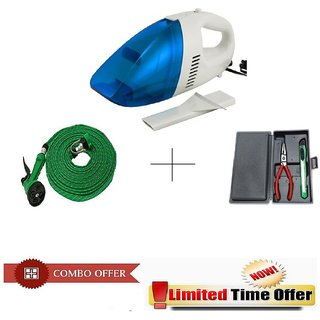 Special Combo Offer! Car Vacuum Cleaner With 10 meter Spray Gun and 25pc Hobby Toolkit - CRVSPRHOB