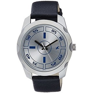 Fastrack Casual Analog Silver Dial Mens Watch - 3123Sl01