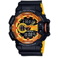 Casio G-Shock Analog-Digital Yellow Dial Mens Watch-Ga-