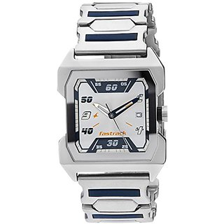 Fastrack Party Analog White Dial Mens Watch - 1474Sm01