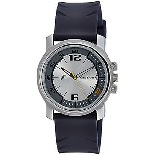 Fastrack Analog Silver Dial Mens Watch-3039Sp01