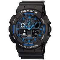 G-Shock Analog-Digital Blue Dial Mens Watch - Ga-100-1A