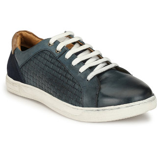 Alberto Torresi Gomture Blue + Navy + Tan Casual Shoe