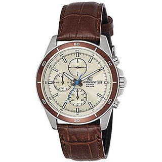 Casio Chronograph Beige Dial Mens Watch-Efr-526L-7Bvudf