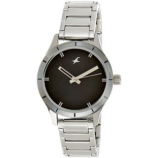 Fastrack Monochrome Analog Black Dial Womens Watch - 6078Sm06