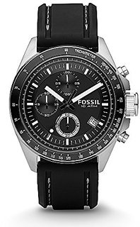 Fossil Decker Chronograph Black Dial Mens Watch - Ch2573