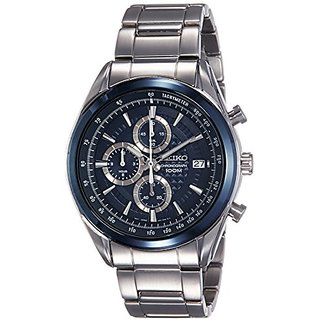 Seiko Dress Analog Blue Dial Mens Watch-Ssb177P1