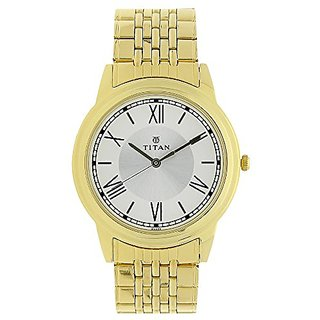 Titan Analog White Dial Mens Watch-1735Ym01
