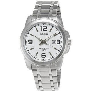 Casio Enticer Analog White Dial Mens Watch - Mtp-1314D-7Avdf (A552)