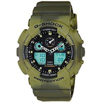 G-Shock Analog-Digital Black Dial Mens Watch - Ga-100Mm