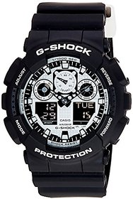 G-Shock Analog-Digital White Dial Mens Watch - Ga-100Bw