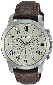 Fossil Chronograph Beige Dial Mens Watch - Fs4735