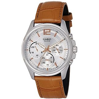 Casio Enticer Analog White Dial Mens Watch-Mtp-E305L-7A2Vdf