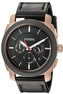Fossil End-Of-Season Machine Analog Black Dial Mens Watch - Fs5120
