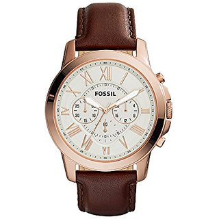 Fossil Chronograph Rose Gold Dial Mens Watch - Fs4991