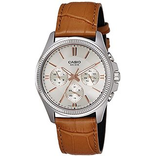 Casio Enticer Analog Silver Dial Mens Watch-Mtp-1375L-9Avdf