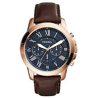 Fossil Grant Analog Blue Dial Mens Watch - Fs5068