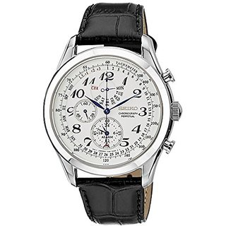 Seiko Dress Chronograph White Dial Mens Watch - Spc131P1