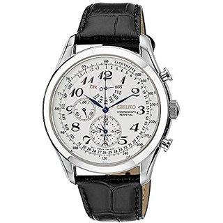 Seiko Dress Chronograph White Dial Mens Watch - Spc131P1