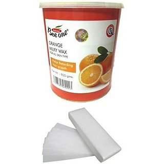 GoodsBazaar Beeone Orange Milky Wax with 90 Wax Strips (800 Grams)