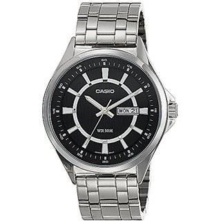 Casio Enticer Analog Black Dial Mens Watch - Mtp-E108D-1Avdf( A965)