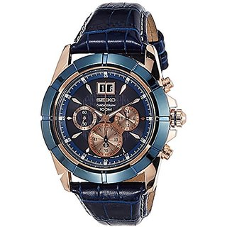Seiko Lord Chronograph Blue Dial Mens Watch - Spc158P1