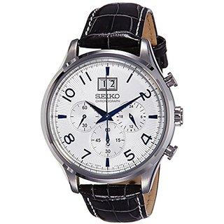 Seiko Dress Chronograph White Dial Mens Watch - Spc155P1