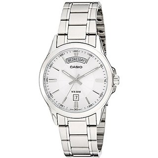 Casio Enticer Analog Silver Dial Mens Watch - Mtp-1381D-7Avdf (A841)