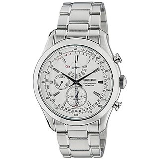 Seiko Dress Chronograph White Dial Mens Watch - Spc123P1